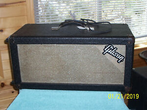 """Vintage 1966 GIBSON Plus 50 Slave amplifier 2 10"""" CTS Alnico speakers amp G cond"""