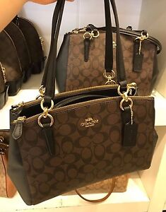 3c33519319428 Image is loading NWT-Coach-Signature-Small-Christie-Carryall-Satchel-F58291-