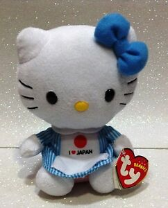 Caricamento dell immagine in corso TY-BEANIE-BABIES-HELLO-KITTY -I-LOVE-JAPAN- a824ee6a94