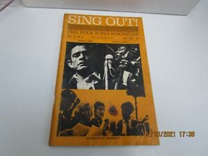 SING OUT! Magazine MAY 1965 JOHNNY CASH - MUDDY WATERS