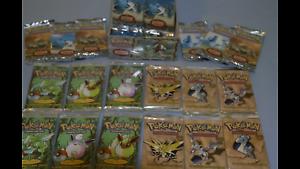 Pacchetti-pokemon-nuovi-sigillati-Vintage-Old-RARI-Fuori-produzione