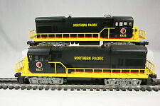 Lionel 8857, 8858 Northern Pacific U36B Diesels; Powered & Dummy - C10/Mint/NIB