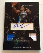 2011 BLACK BOX ELITE JAMEER NELSON CRUSADE DUAL JERSEY AUTO #14  11/25