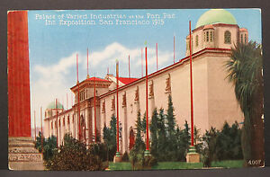 Palace-of-Varied-Alameda-1915-Wold-S-Panama-Pacific-Postcard-Ak-Lot-A3798