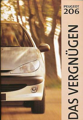 Peugeot 206 Prospekt 1998 Car Brochure Auto Pkws Broschüre Autoprospekt Broschyr