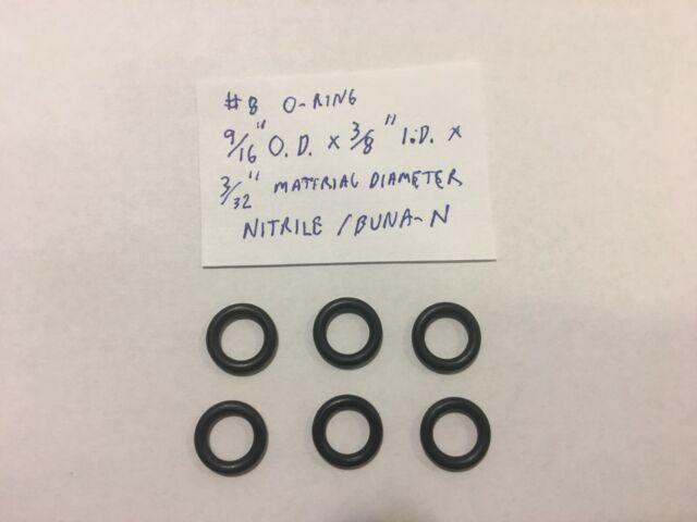 "3//4/"" OD 50 9//16/"" ID Rubber Buna Rubber O-Rings"