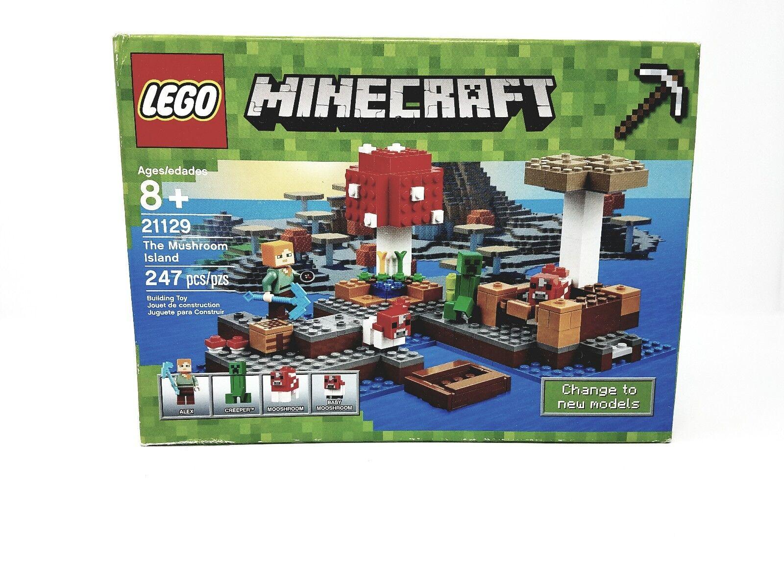 Lego Minecraft The Mushroom Island Set 21129 - 247 PCS -New Sealed
