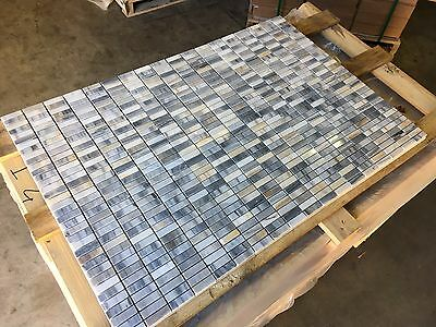 MOSAICO in marmo calcare lucidato SKYFALL mosaico di marmo marmo piastrelle
