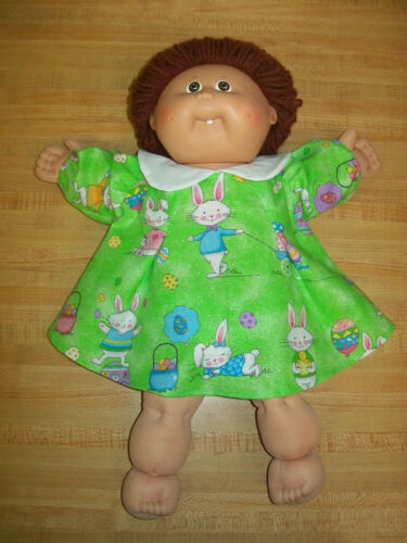 """EASTER BUNNY RABBIT EGGS SWING TYPE DRESS for 16/"""" or 20/"""" CPK Cabbage Patch Kids"""