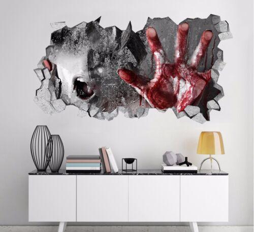 3D Horror Hand 7 Wall Murals Stickers Decal breakthrough AJ WALLPAPER AU Kyra