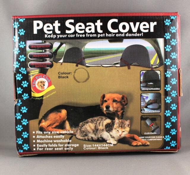 Pet Seat Cover - Waterproof & Washable - 144cm x 144cm Black - Brand New