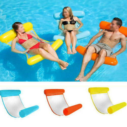 Inflatable Floating Water Hammock Float Pool Lounge Bed Swimming Beach Bed TA
