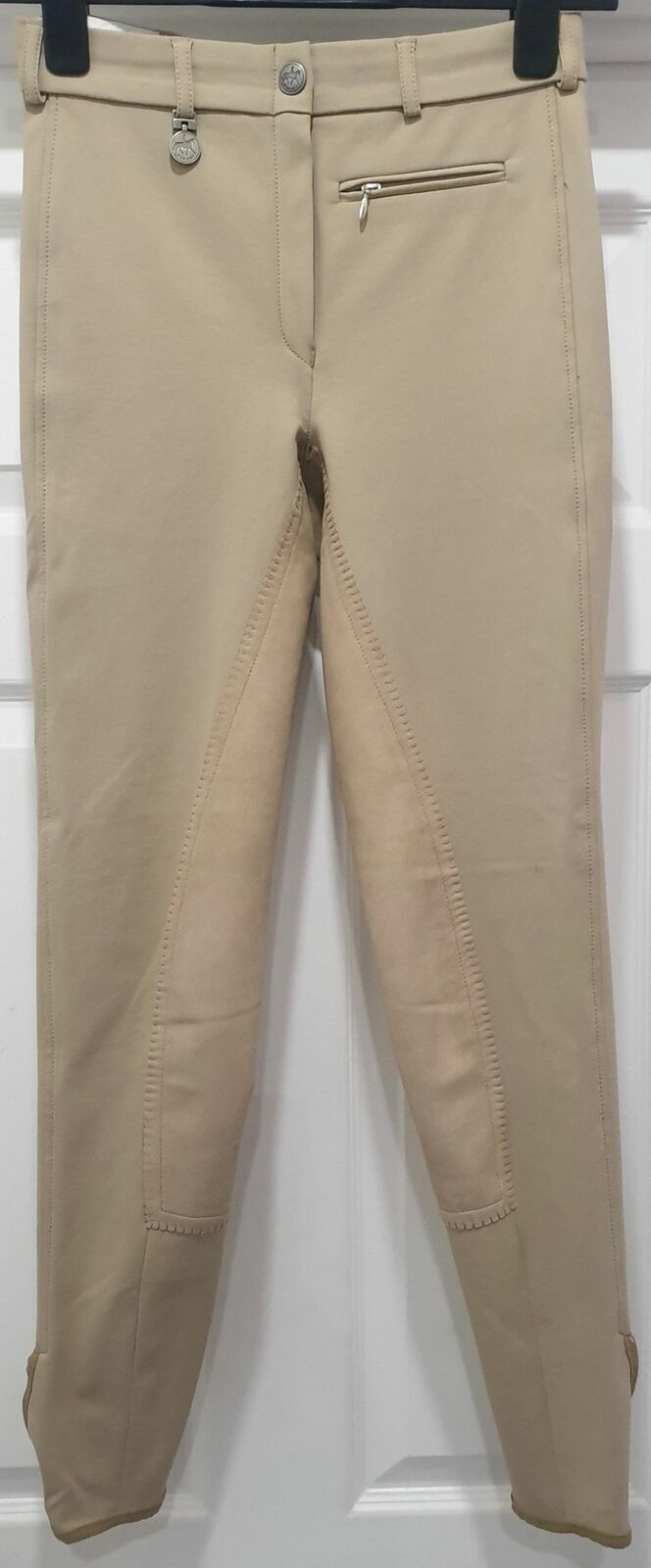 PIKEUR Beige Jodphur Synthetic Suede Seat Breeches Pants Trousers GER36 UK8