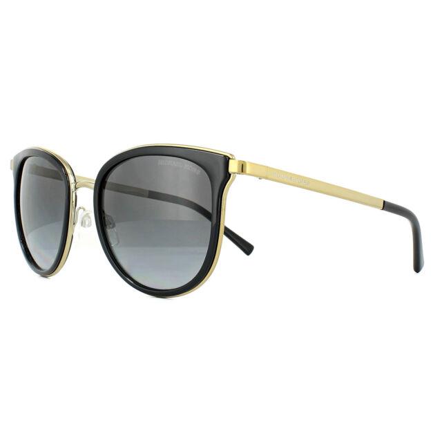 9bb8832b91f0b Michael Kors Sunglasses Adrianna 1 1010 1100T3 Black Gold Grey Shaded  Polarized