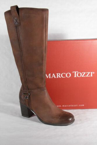 Neu Damen Marco Leder Stiefeletten Braun Stiefel 25541 Winterstiefel Tozzi P5wO5q8