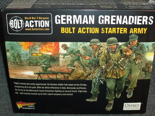 Granaderos Ejército Alemán Estrellater Set Perno acción 2nd Edición World War Two Warlord Juegos