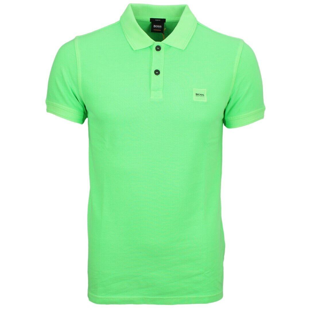 BOSS arancia MAGLIA POLO UOMO verde TINTA prime 50378365 329