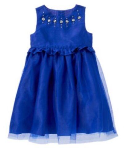 Gymboree Best in Blue Gem Tulle Dress Girls  Sleeveless Nwt Christmas 6-12 M