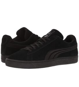 New Puma Suede Classic Badge Sneaker Black 362952 01 YOUTH Kids Sizes