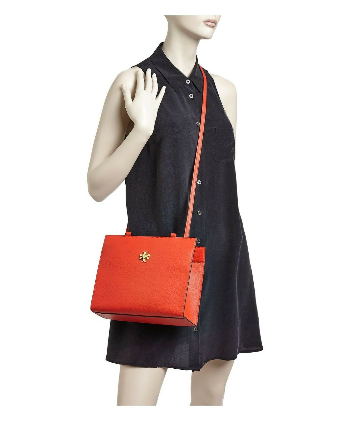 fc26aebd5bc2 Tory Burch Kira Red Leather Small Tote Crossbody Shoulder Bag 45157 for  sale online