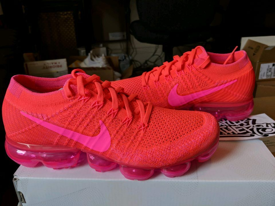 nike wmns vapormax rote flyknit hyper - pink - helle rote vapormax hot 849557-604 b1c19d