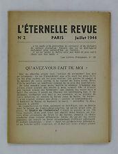 L'Éternelle revue n° 2 EO 1944