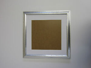 Two Tone Silver 16x16 Square Picture Photo Frame Mount 115x115