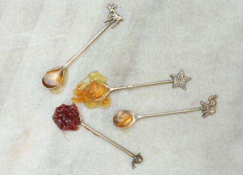 Elephant brass spoon-décorative cuillère à café ou confiture condiment-nkuku cadeau mariage