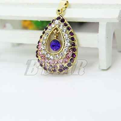 Crystal Pendant 4G-32GB USB 2.0 Flash Memory Stick Pen Drive Thumb Drive U Disk
