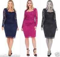 Gemma Collins Style Lace Dress Lisbon Navy Black Cocktail Party TOWIE Size 16-24