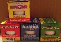 4 Piece Trick Golf Ball Prank Set Golfer Gag Gift Joke 4 Different Golf Balls