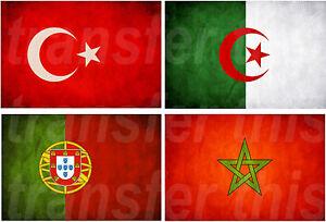 Algerie Drapeau drapeau algerie maroc portugal sticker autocollant ou transfert