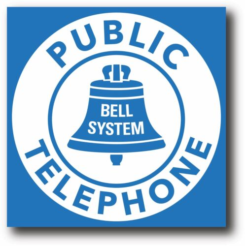 BELL TELEPHONE HIGH GLOSS OUTDOOR 3.5 INCH SQUARE DECAL STICKER