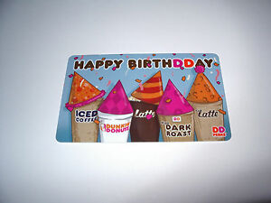 image is loading 1 new dunkin donuts happy birthday gift cards - Happy Birthday Gift Card