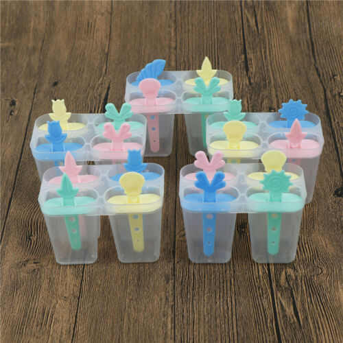 4 cell ice cream moldsicle maker lolly mould tray pan diy Jy