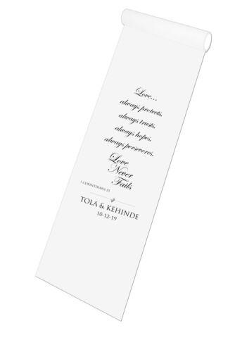 environ 4.57 m - 30 FT environ 9.14 m 15 FT Personalised Wedding Aisle Runner église mariage Tapis Décoration