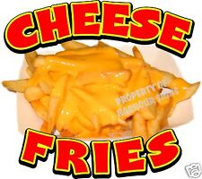 "Cheese Fries Concession Decal 12"" Food Truck Restaurant Menu"