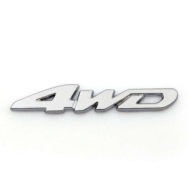 3D Car Emblem Badge Sticker Decal Metal 4WD Sliver For JEEP SUV 4X4 A05 A05.
