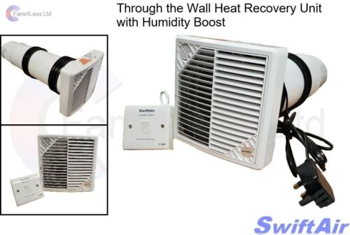 HRW150H mural 84/% Récupération de Chaleur Unit Supply Extrait Ventilateur Humidité Salle De Bain