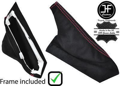 RED STITCH SUEDE SHIFT /& E BRAKE BOOT PLASTIC FRAME FOR CORVETTE C6 05-13