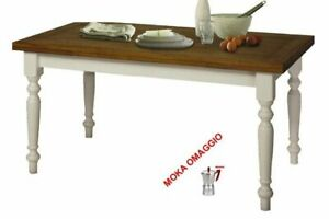 Tavolo Quadrato Allungabile Shabby Chic.Dettagli Su Classico Tavolo Da Pranzo Shabby Chic Rovere E Bianco Allungabile 715 716 717