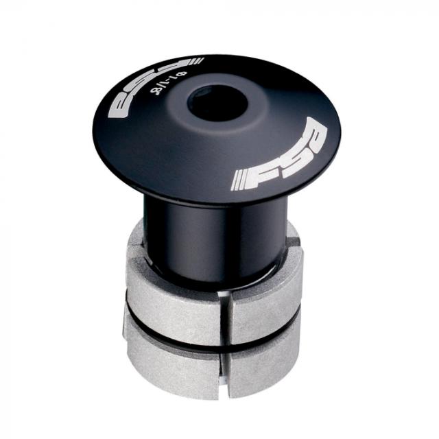 """FSA Compressor 1-1//8/"""" Black Expander Plug and Top Cap"""