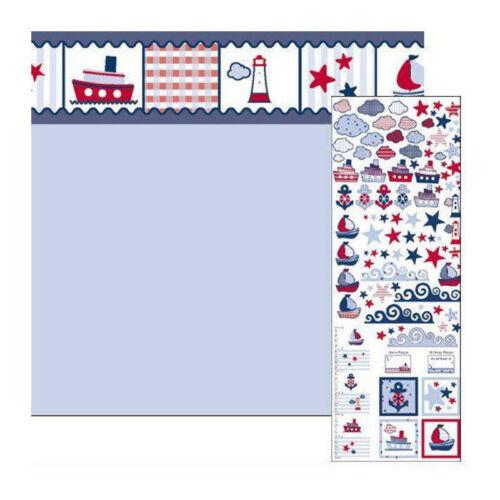 """# DOLLS House 5833 carta da parati /""""Seaside/"""" 60x43 cm blu chiaro 1:12 per casa delle Bambole Nuovo"""