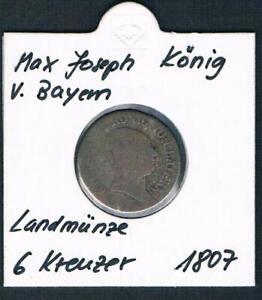 Max-Joseph-Koenig-von-Bayern-Landmuenze-6-Kreuzer-1807