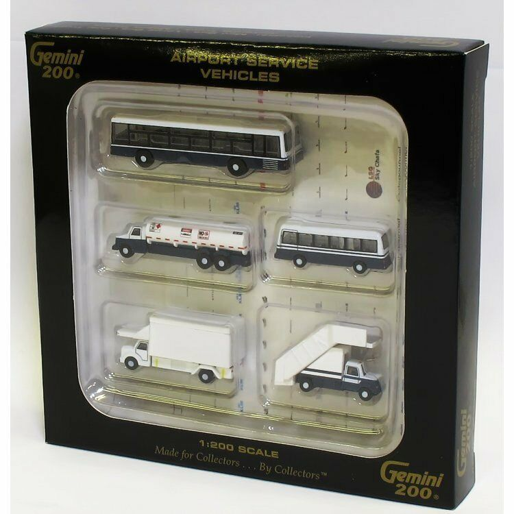 GeminiJets 1 200 G2APS450 Boxed Set of 5 Airport Service Vehicles