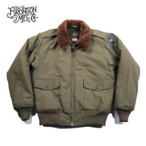 Bronson-USAAF-B-10-Flight-Jacket-Vintage-1943-Model-Men-039-s-Flying-Bomber-Coat-B10