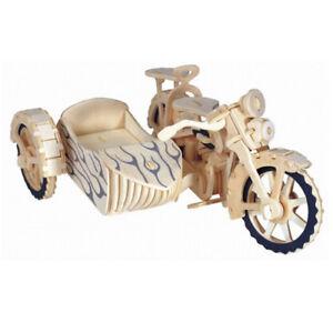 Motorrad 3D Holzbausatz Sport Renn Fahrzeug Holz Steckpuzzle Kinder Holzpuzzle