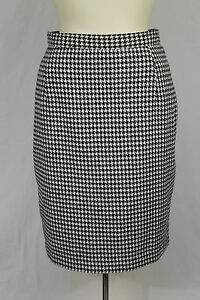 b9db28dfb0 Image is loading Express-Black-amp-White-Houndstooth-Classic-Pencil-Skirt-