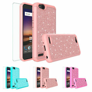 huge selection of ae12d 26fa8 Details about ZTE Z557BL Case, ZTE Z558VL Cases, Slim Hybrid w/ HD Screen  Protector Cover