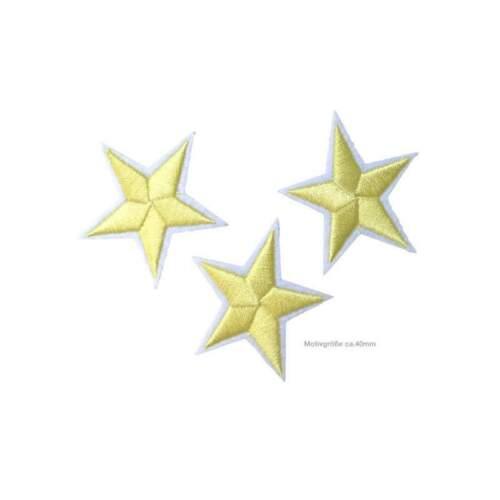 40mm asterisco 3 estrella perchas imágenes aprox amarillos insignia